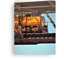 Suspended Locomotive Canvas Print