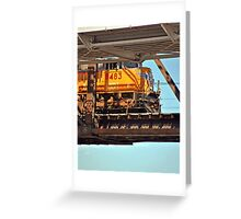 Suspended Locomotive Greeting Card