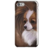 Papillon Red Sable and White iPhone Case/Skin