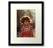 Silky hair ! Framed Print