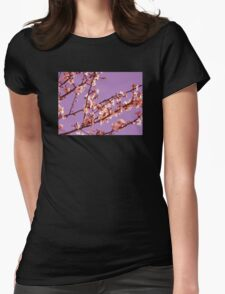 Purple Sky Blossom Womens Fitted T-Shirt