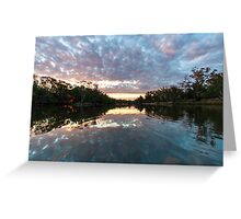 River mirror Greeting Card