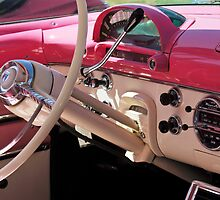 1955 Ford Crown Victoria Steering Wheel by Jill Reger