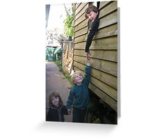 hold my hand Greeting Card