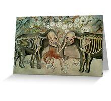 Irrelephant skeletons Greeting Card