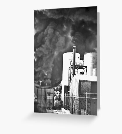 Fire at Wingfield Greeting Card