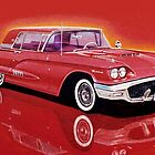 1958 Ford Thunderbird by brianrolandart