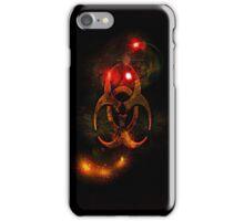 Biohazard Symbol on black - iPhone and iPod skin (smaller design) iPhone Case/Skin