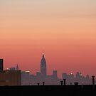 manhattan dawn by Kevin Koepke