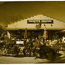 2 Harley Davidsons w/ Vintage Puckett's Grocery Store - Leipers Fork, TN  by Daniel  Oyvetsky