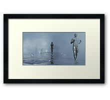 ...Meanwhile On Another Planet Framed Print