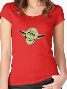 Dalai Yoda Women's Fitted Scoop T-Shirt