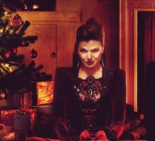 Christmas - The Queen by the Fire Sticker