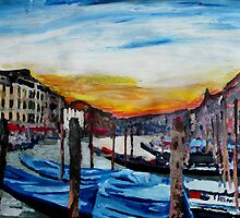 Gondulas on Canal Grande, Venice by artshop77