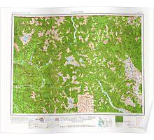 USGS Topo Map Washington State WA Concrete 240635 1962 250000 Poster