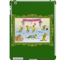 Pissed as a Newt (on dark) iPad Case/Skin