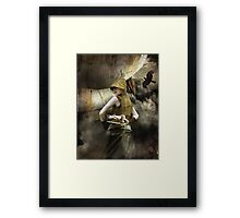 Not without a fight Framed Print