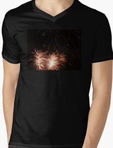 Fireworks Mens V-Neck T-Shirt