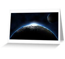 Another Space Scene Greeting Card