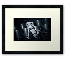 """Blue Movie."" Framed Print"