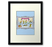 Pissed as a Newt (on light) Framed Print
