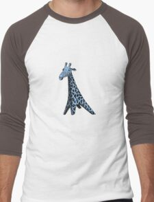 Blue Giraffe Men's Baseball ¾ T-Shirt