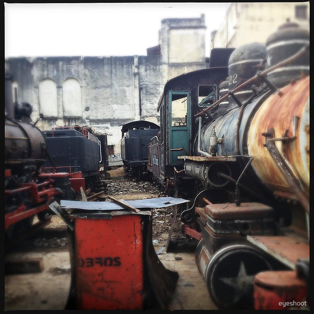 Train Gravyard in Havana by eyeshoot