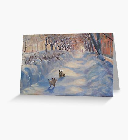 This street is mine! Greeting Card