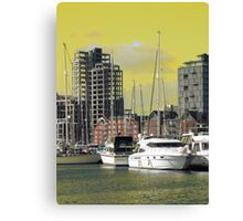 Yellow Regeneration, Ipswich Waterfront Canvas Print