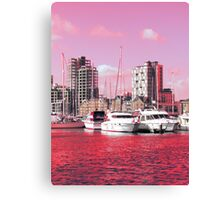 Magenta Regeneration, Ipswich Waterfront Canvas Print