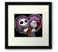 The Skellington duo Framed Print