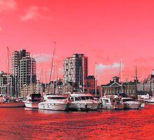 Red Regeneration, Ipswich Waterfront by wiggyofipswich