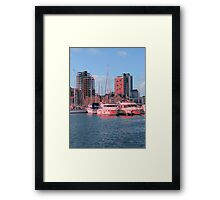 Touches Of Red, Ipswich Waterfront Framed Print