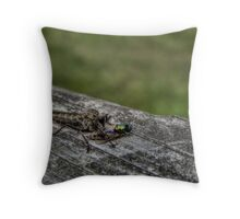 Robber Fly - HDR Throw Pillow