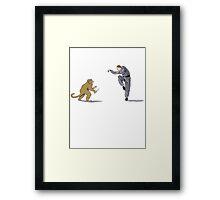 Monkey Fu with Knife (detail) Framed Print