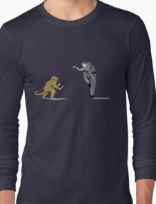 Monkey Fu with Knife (detail) Long Sleeve T-Shirt
