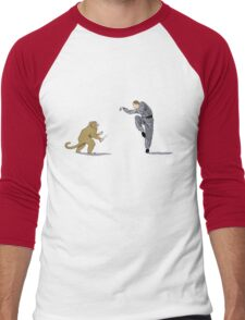 Monkey Fu with Knife (detail) Men's Baseball ¾ T-Shirt