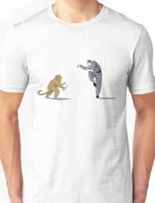 Monkey Fu with Knife (detail) Unisex T-Shirt