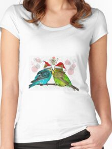 Christmas Cuddles Women's Fitted Scoop T-Shirt