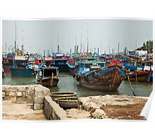 Colourful Boats of Nha Trang - Vietnam Poster
