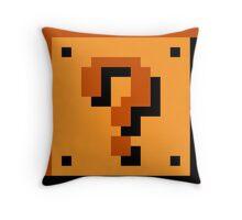 Mario Item Block  Throw Pillow