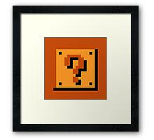 Mario Item Block  Framed Print