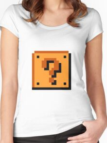 Mario Item Block  Women's Fitted Scoop T-Shirt