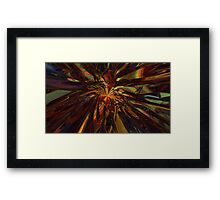 Abstract Digital Painting #13 - Peacock Burrst Framed Print