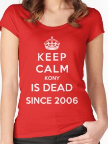 Keep Calm KONY Is Dead Since 2006 Women's Fitted Scoop T-Shirt
