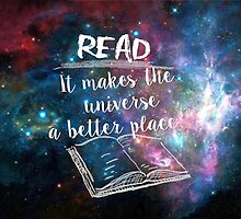 Reading for a better universe by alicesboutique