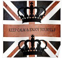 Vintage UK Flag Design  Poster