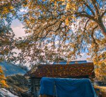 Autumn in a village in Turkey Sticker