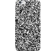 White Noise Pattern iPhone Case/Skin