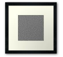 White Noise Pattern Framed Print